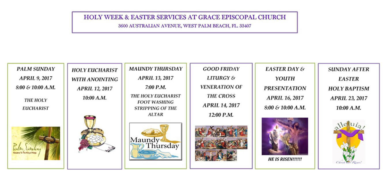 http://graceepiscopalwpb.orgholy week 2
